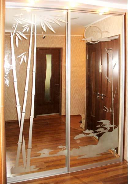 Зеркальная дверь своими руками для шкафа купе